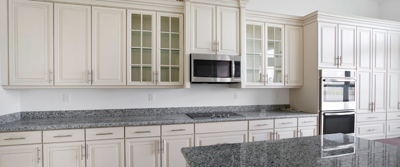 Beautiful custom kitchen in unfinished new home